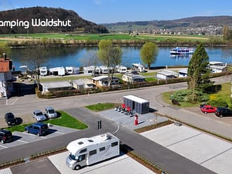 Site right on the Rhine with a view over to Switzerland