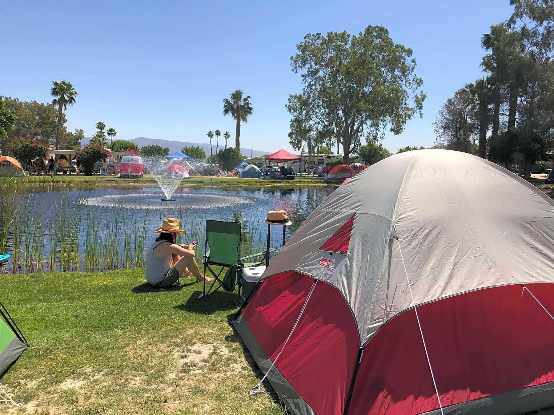 Kalifornie plné připojení kempu