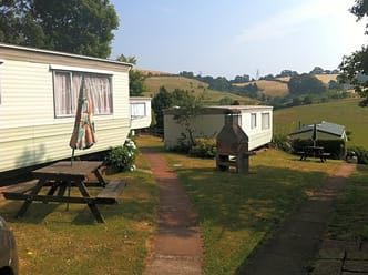 Site views from the two-bedroom static caravan