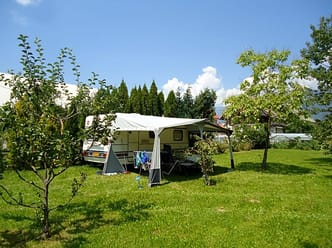Large pitches with space for an awning