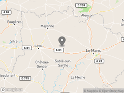 Location of Glamping Sainte-Suzanne