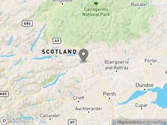 Location of Grandtully Campsite