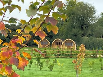 Luxury glamping pods in a secluded area just outside Southwell town centre