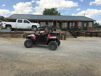 ATVs are allowed on public roads in Kirtland, so you can ride from the campground to the trails