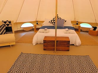 Spacious bell tent