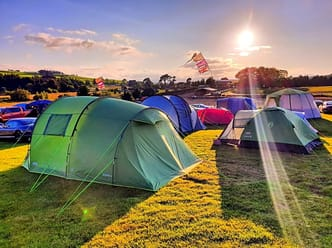 Camp 2 in July 2019, Snowdonia Sunset