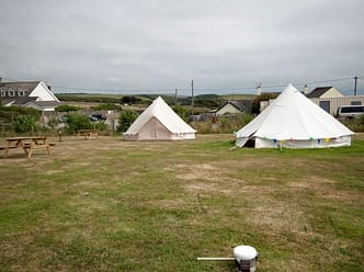 View of the Bell Tents