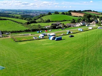 Panoramic view of the campsite