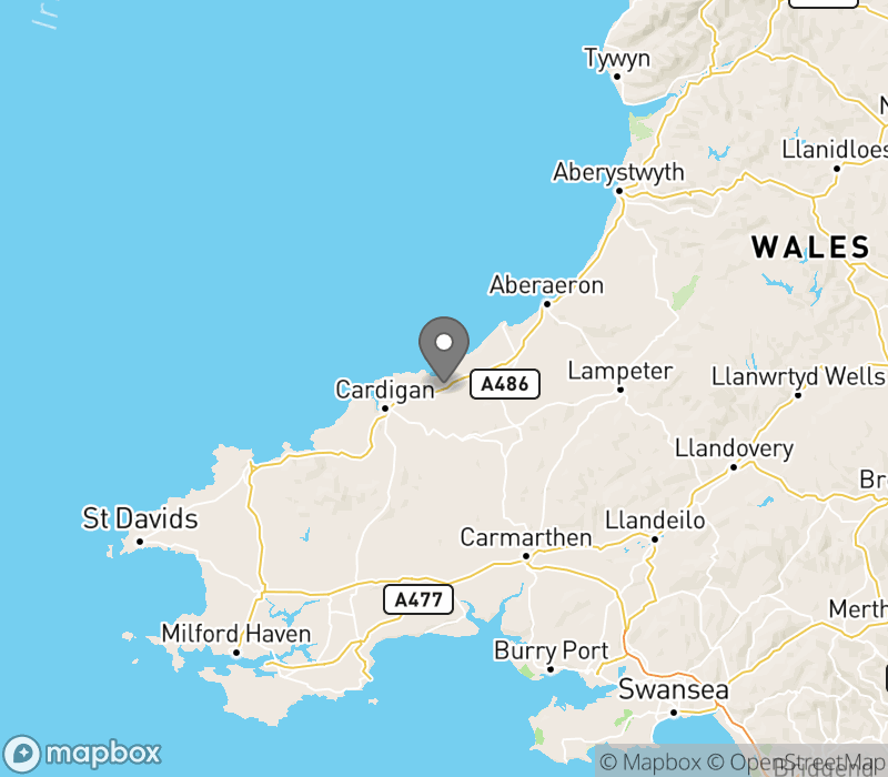 Location of Teifi Valley Camping Pods