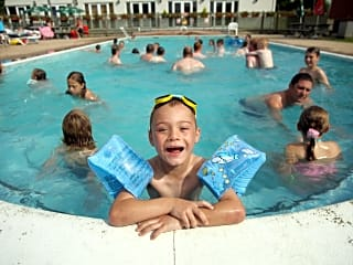 Take a swim in the swimming pool