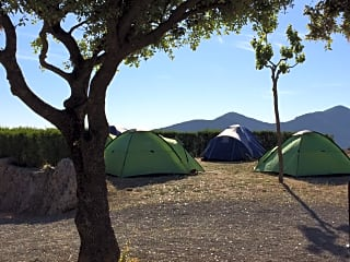 Area for tents - wake up to these stunning views