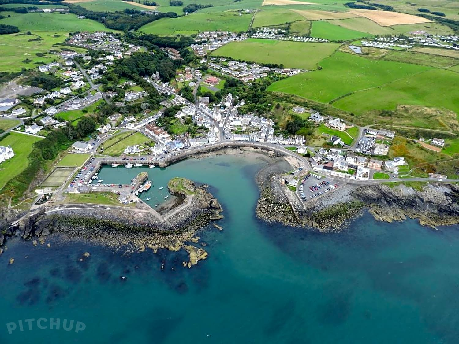 Aerial view of Portpatrick