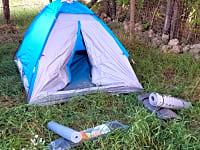 Elektromos csatlakozás a sátorhoz