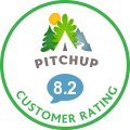 Customer rating on Pitchup
