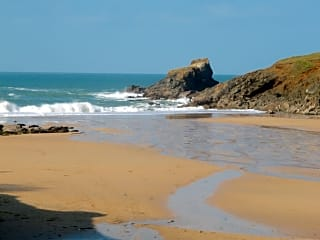 Trevone Bay and sandy beach is only two miles from the park