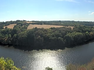 Aerial view of the river