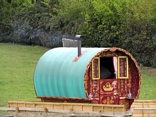 Classic Romany bow top caravan