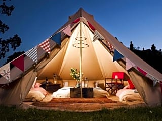 Evening at the bell tent