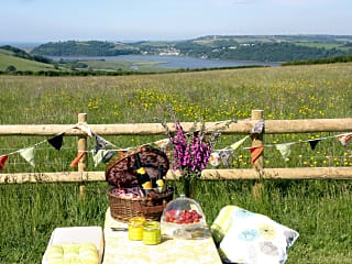 Enjoy a picnic overlooking the countryside