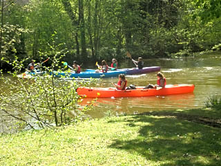 Explore the river in a canoe or a kayak