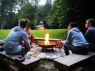 Gathering by the campfire