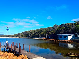 Walpole Yacht Club, boat ramp and jetty overlooking Coalmine Beach