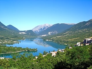 Panorama of the village and the lake