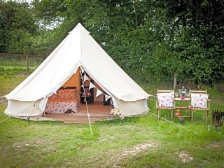 Exterior of bell tent