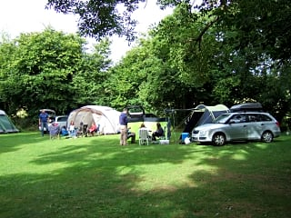 Camping in the rally field
