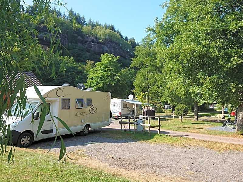 RV camping utan vatten hookup