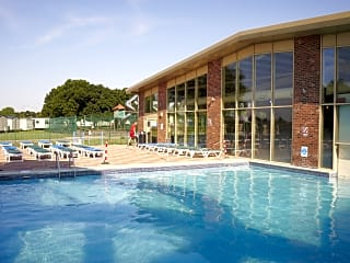 Sun patio and outdoor swimming pool
