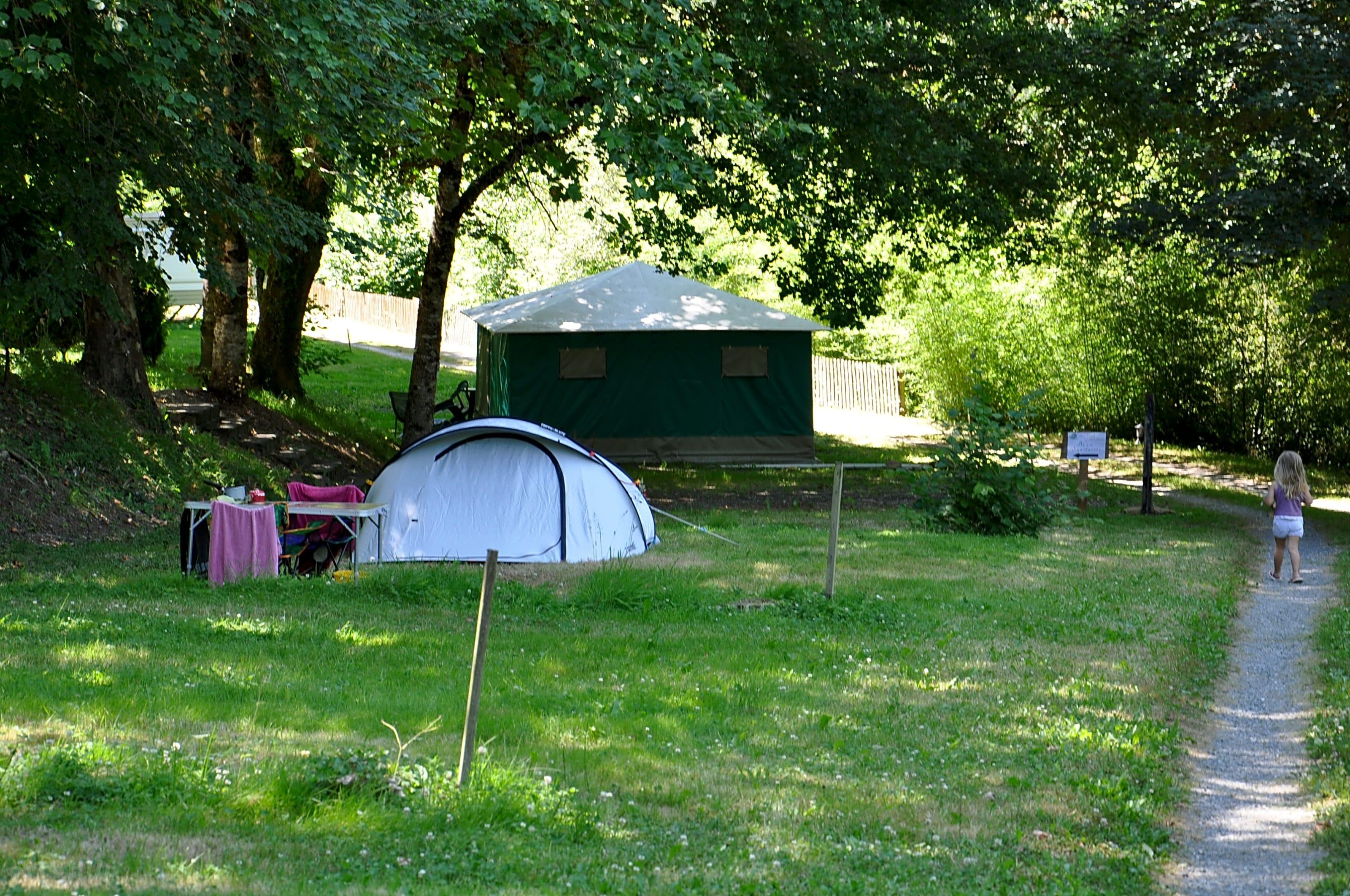 Canada tent huren op onze camping in de Dordogne