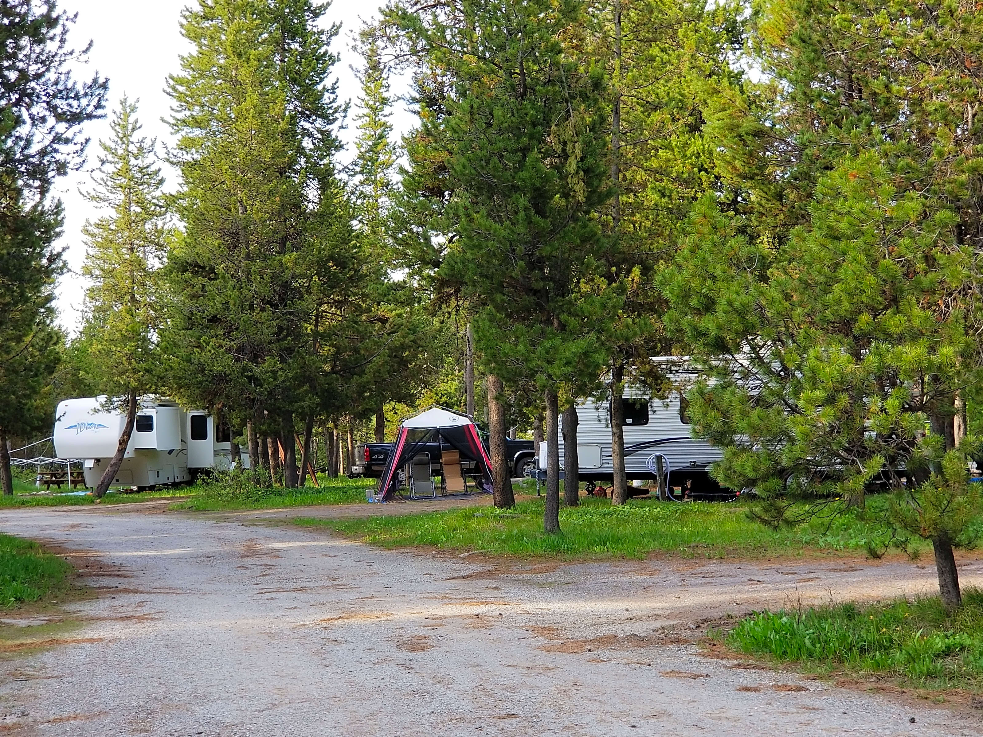 RV branchement parc national de Yellowstone