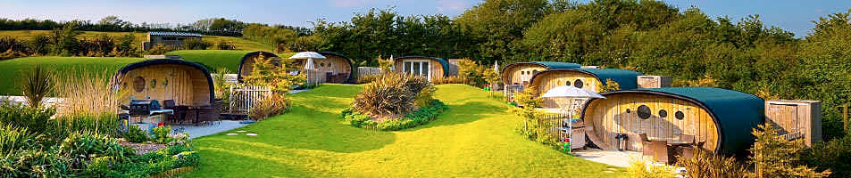 Lodges, cabins, pods or huts