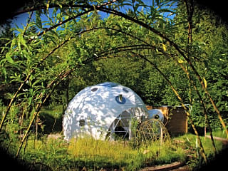 Dome in a secluded setting