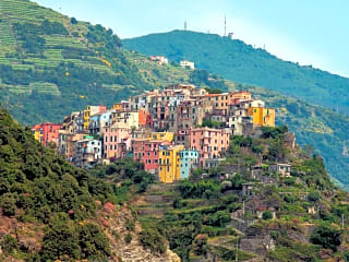 Visit the famous Cinque Terre -  a view over Manorala