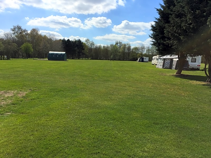Plenty of space for tents -we also have rough camping fields if you want to get away from everyone