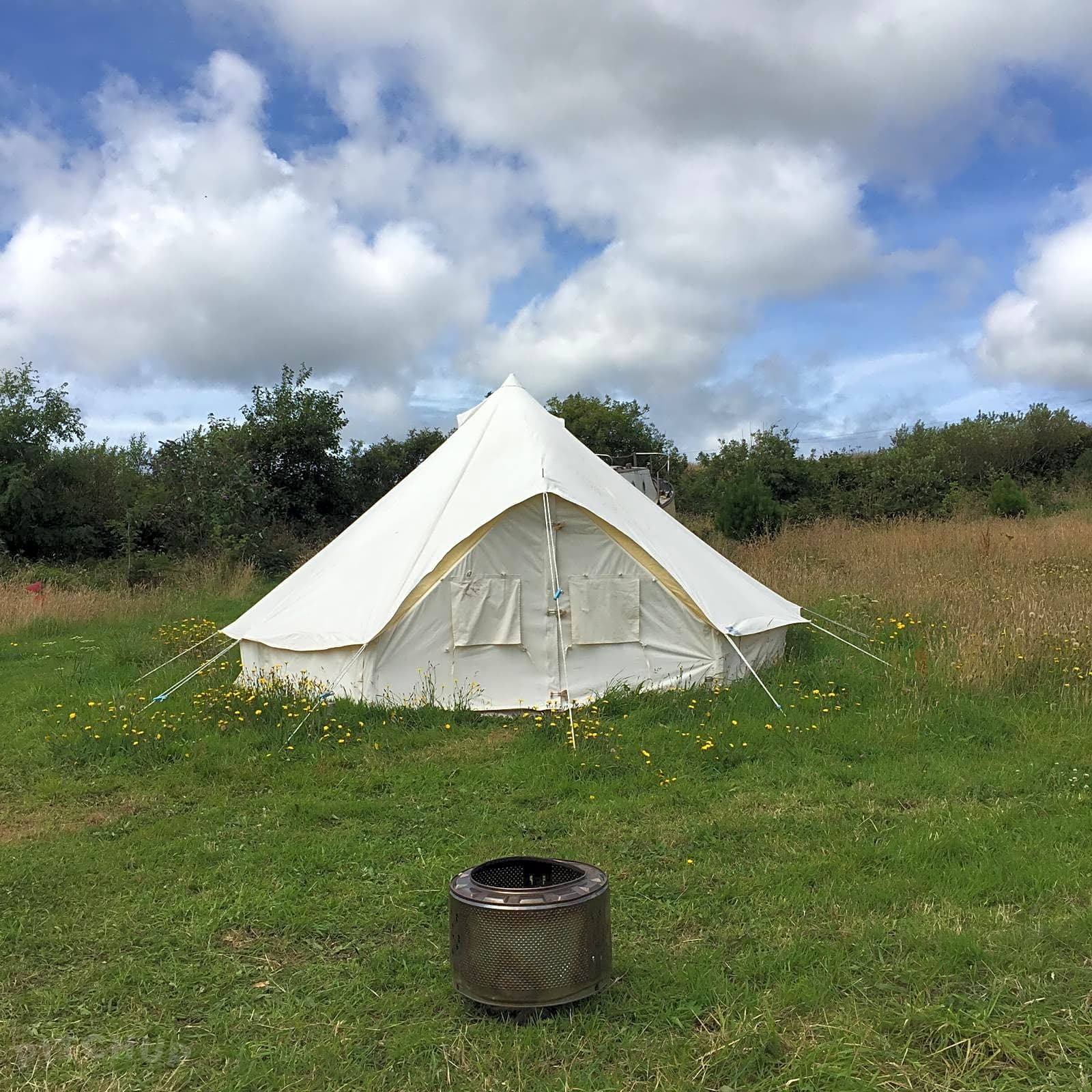 The Field of Stars: Bell tent exterior