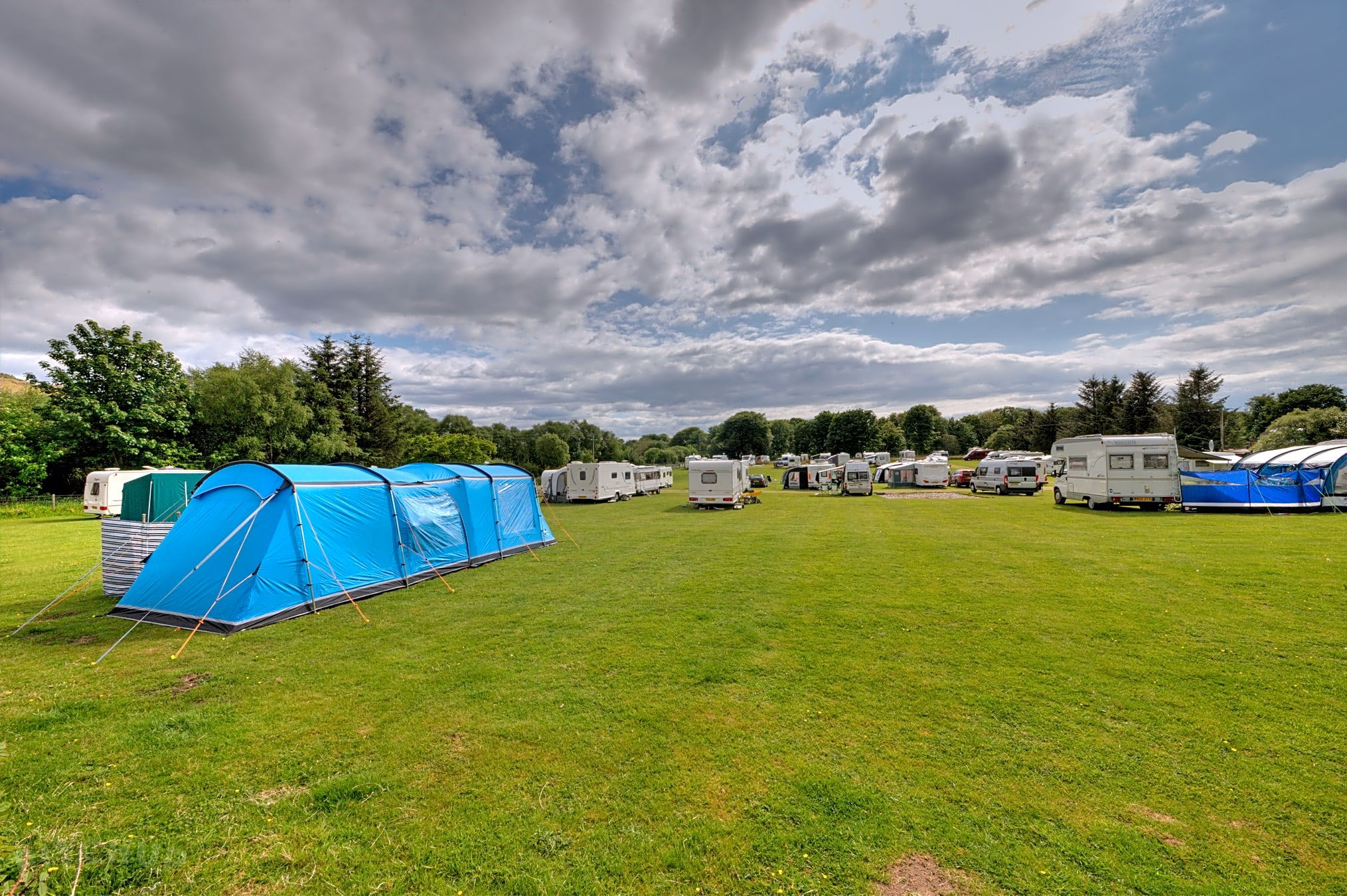 Level grass pitches: plenty of space