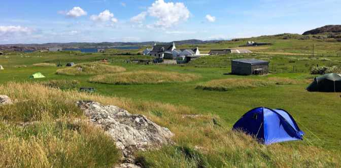 Wild camping on Scotland's Isle of Iona