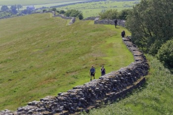 Hiking Hadrian's Wall. Pic courtesy of VisitEngland.