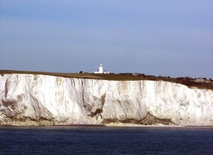 South Foreland lighthouse on Dover's white cliffs. Pic by Remi Jouan.