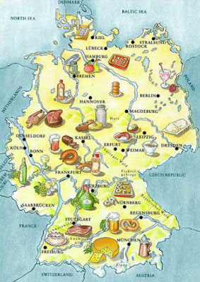 Deutschland delicacies map
