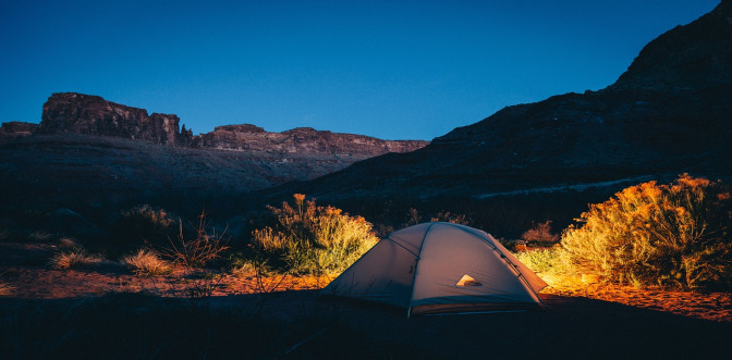 Remote wild camping
