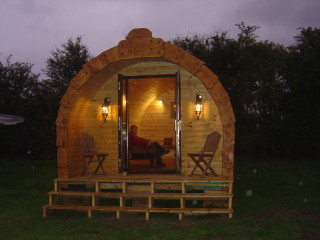 Camping pod at adults-only Colemere Caravan Park, Shropshire