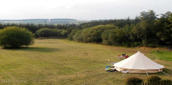Not all wild camping is minimal kit... The Nipstone Campsite in Shropshire