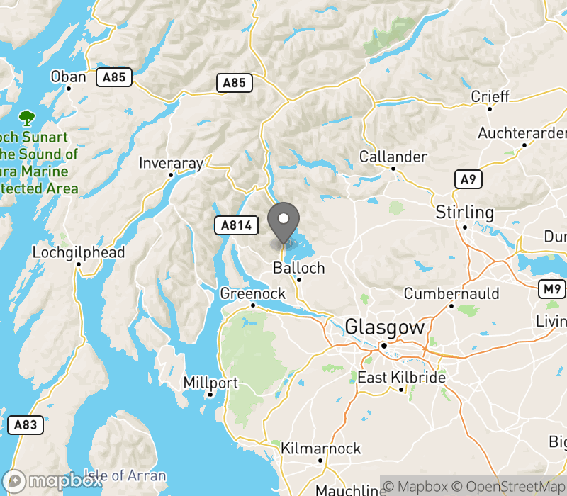 Location of Luss Camping and Caravanning Club Site