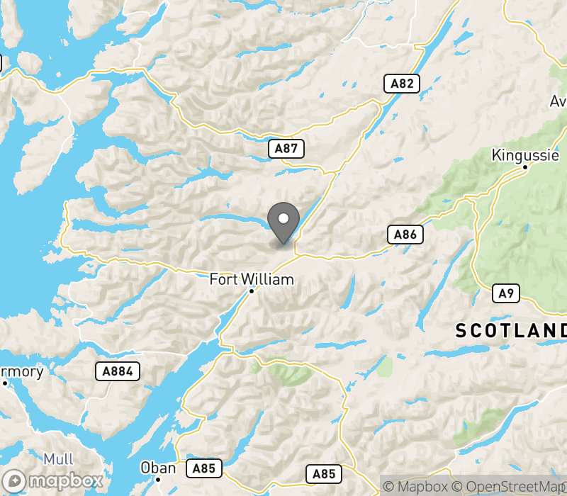 Location of Gairlochy Holiday Park