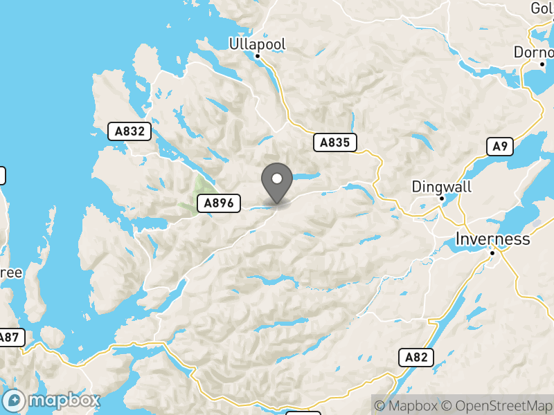 Location of Ledgowan Lodge Bunkhouse and Campsite