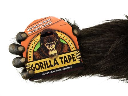 Gorilla tape in hand